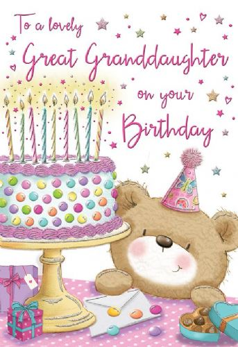 To A Lovely Great Grandaughter On Your Birthday